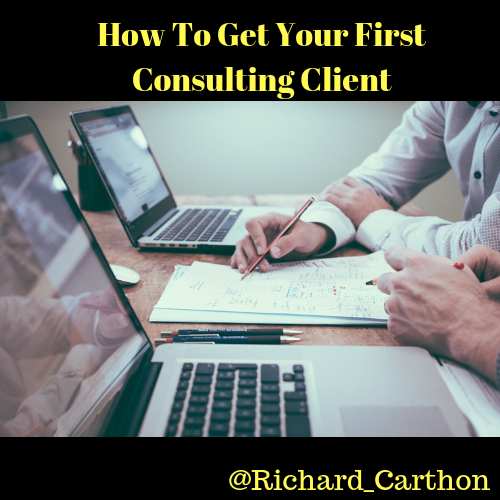 How To Get Your First Consulting Client logo