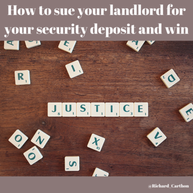 How to sue your landlord for your security deposit and win